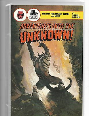 Adventures Into The Unknown #1 Frank Frazetta Cover