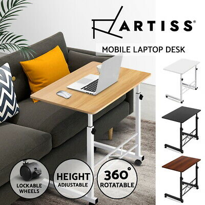 Artiss Portable Height Adjustable Mobile Wooden Laptop Study Desk Stand Table