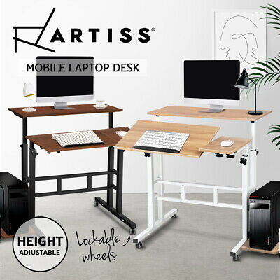 Artiss Mobile Laptop Desk Bed Computer Table Stand Adjustable iPad Notebook