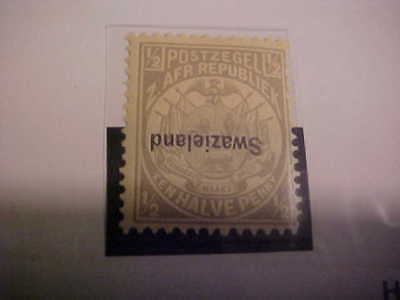 SWAZILAND #1a Never Hinged / Inverted overprint