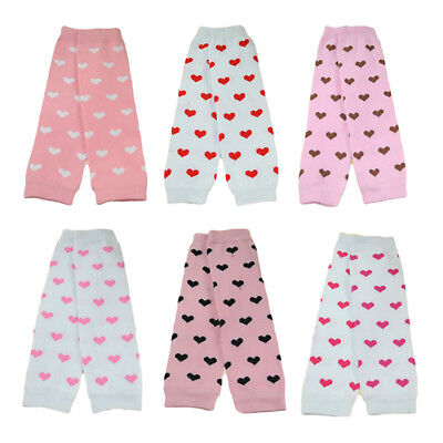 Adorable Baby Toddler Kid Girl Pink Hearts Socks Tights Arm Leg Warmers