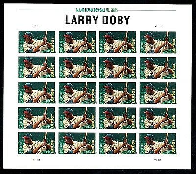 2012 - LARRY DOBY - #4695 Full Mint -MNH- Sheet of 20 Postage Stamps