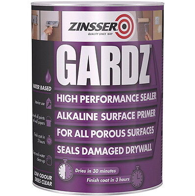 Zinsser Gardz High Performance Sealer Primer Porous Damaged Drywalls 2.5L