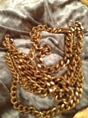 Antique Heavy Gold Chain Belt Or Ling Necklace Hippy Chick From The 1960S Wow