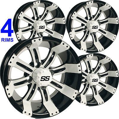 FOUR Tempest 10x7 4/4 Aluminum Golf Cart RIMs WHEEL for EZGO ClubCar Yamaha more