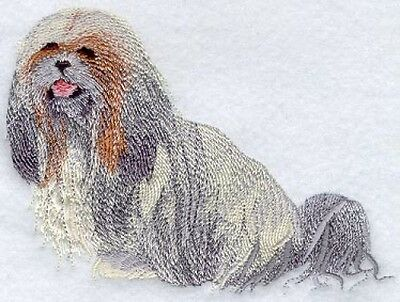 Embroidered Ladies Short-Sleeved T-Shirt - Lhasa Apso I1165