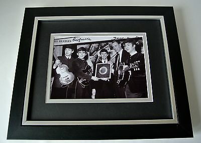 George Martin SIGNED 10X8 FRAMED Photo Autograph Display Music The Beatles & COA