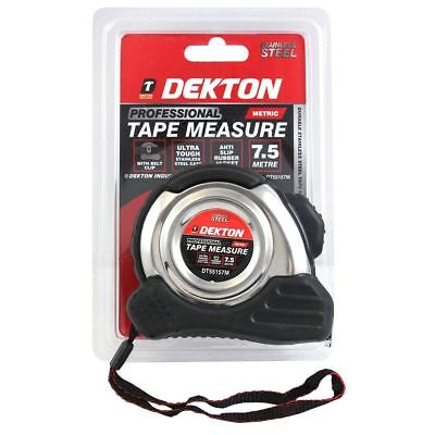 Dekton 7.5m Metric Only Measuring Tape Retractable Stainless Steel