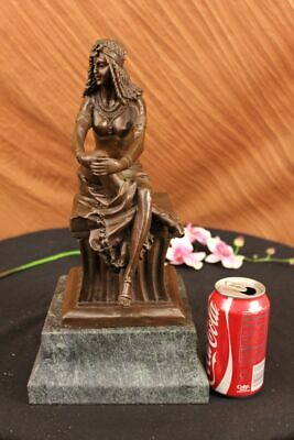 Large Signed~Chiparus~ Sitting Egyptian Nude Princess Sculpture Figurine Deal