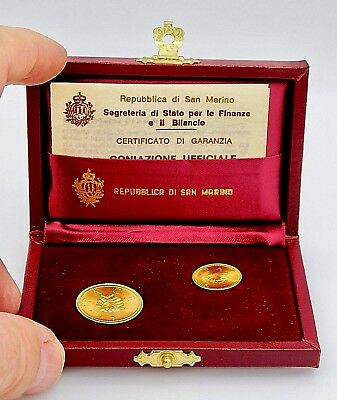 1979 San Marino 1 & 2 Scudi Gold Km#99 & Km#100 Very Rare All Original