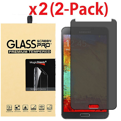 Privacy Anti-Spy Tempered Glass Screen Protector for Galaxy S3 S4 S5 S6 S7 Note