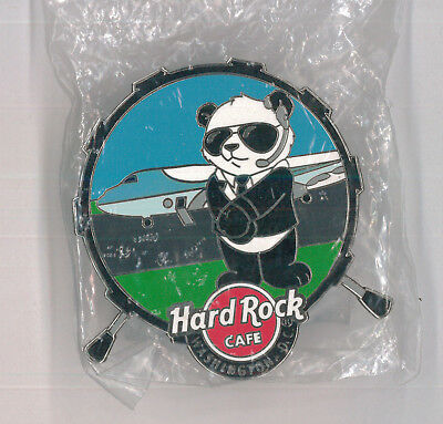 Washington DC Hard Rock Cafe pin - HRC Secret Service Panda 3 - bear plane badge