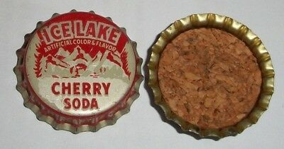 (1) Unused NOS IceLake Cherry Gallup New Mexico Cork Lined Soda Btl Cap *MINT* A