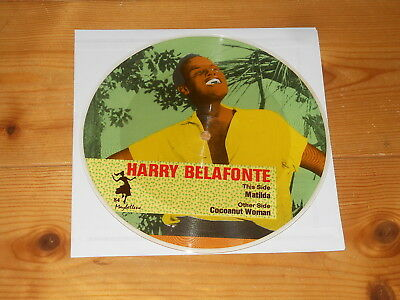 """Harry Belafonte - 7"""" PICTURE DISC Single - Matilda - Sexy Pin Up Pinup"""
