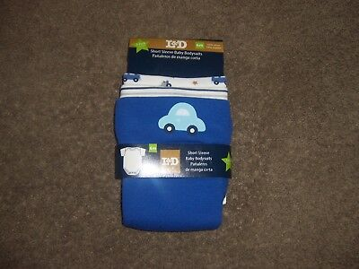 Brand New L & D short sleeve baby bodysuits new cars  6 mONTHS SIZE