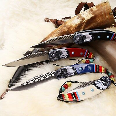 """8.5"""" NATIVE AMERICAN SPRING ASSISTED FOLDING POCKET KNIFE Indian Open Assist"""