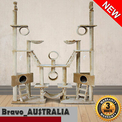 Cat Scratching Tree post Large 244cm Giant Wood tower House Condo Multi level