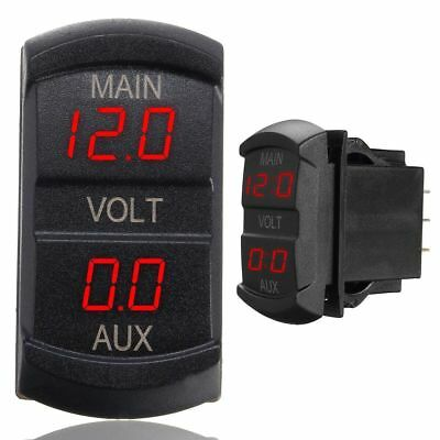LED Digital Dual Voltmeter Spannungsmesser Monitor Panel Auto Boot LKW 10-60V