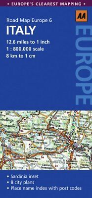 Road Map Italy (AA Road Map Europe 6) by AA Publishing Sheet map, folded Book