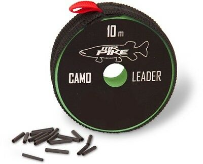 Quantum Mr. Pike Camo Leader + Sleeves 10m 14kg