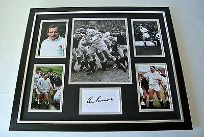 Bill Beaumont SIGNED FRAMED Photo Autograph Huge display England Rugby PROOF COA