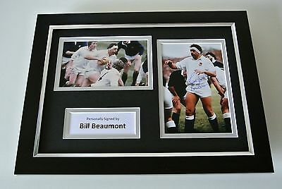 Bill Beaumont SIGNED A4 FRAMED Photo Autograph Display England Rugby Union COA