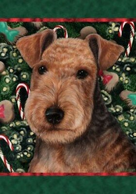 Garden Indoor/Outdoor Holiday Flag - Lakeland Terrier 142341