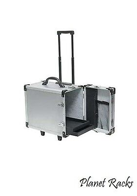 One Planet Racks Aluminum RollingTravel Salesman Jewelry Case with 12 Trays