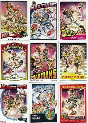 Mars Attacks Occupation 2015 Superstars Insert Chase Card Set 1 To 9 Sp