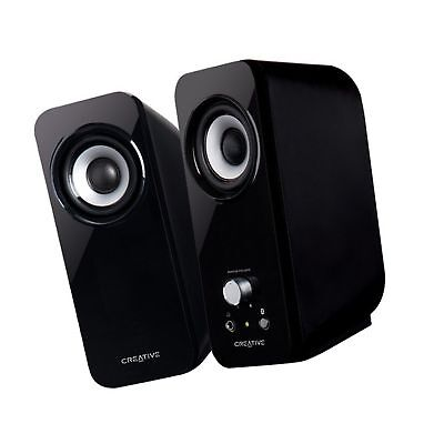 Creative Inspire T12 2.0 Multimedia Speaker System with Bass Flex Technol... New