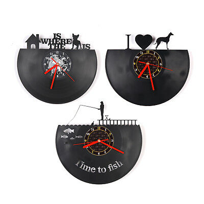 VINYL Shape Modern Wall Clock Bedroom Home Decor Gift