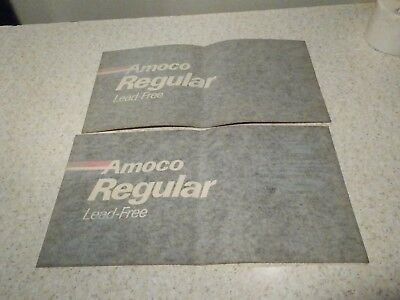 "Amoco Regular Lead Free Gas Pump Sticker 16 1/2"" By 8 3/4"""