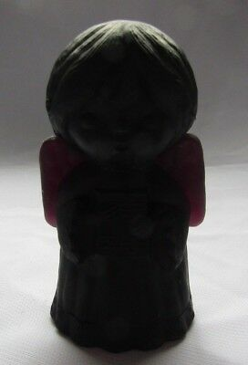 Mosser Original Glass  Singing Angel  Black Amethyst Satin