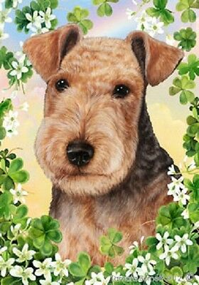 Large Indoor/Outdoor Clover Flag - Lakeland Terrier 31234