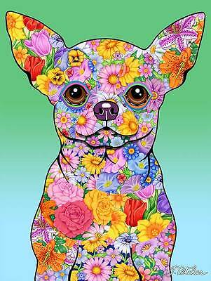 Garden Indoor/Outdoor Flowers (TP) Flag - Chihuahua 960461