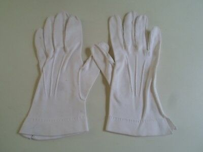 Vintage Retro White Ladies Gloves Size Approx 6.5  SMALL   §DM29