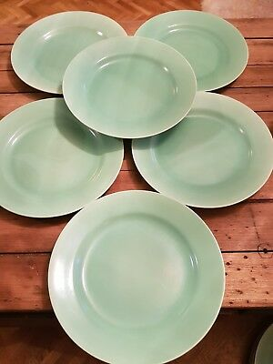 Vintage Poole Pottery Dinner Plates set of 6 & VINTAGE Poole Pottery Dinner Plates set of 6 - £5.00 | PicClick UK