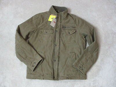NEW Levis Jacket Size Adult Small Military Brown Coat Red Tab Trucker Mens