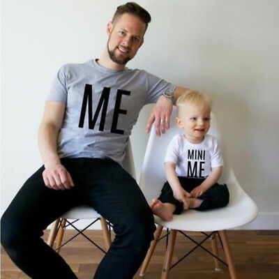 Family Matching Outfit Dad Father Kid Boy Son T Shirt Clothing Wear Cotton Tops
