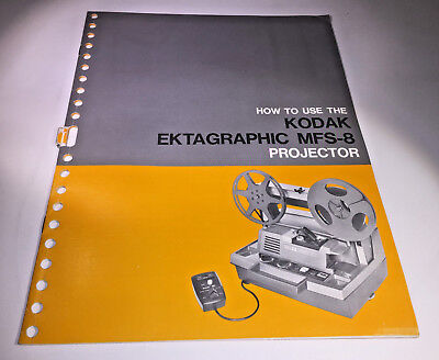 The instruction manual for a Kodak Ektagraphic MFS-8 projector, from 1968