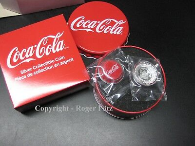 1 $ 2018 Fiji Coca Cola Bottle Cap Kronkorken Silber proof like shaped