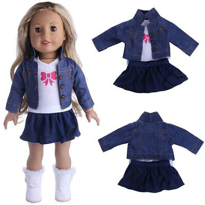 "18"" American Girl Doll Skirt Top Coat Dress Outfit Shirt Clothes Accessories"