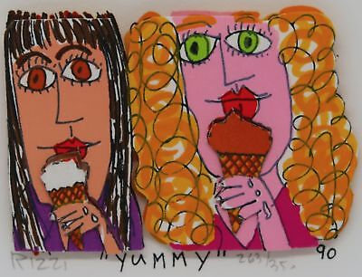 James Rizzi » Yummy «  Seltenes 3D  aus 1990