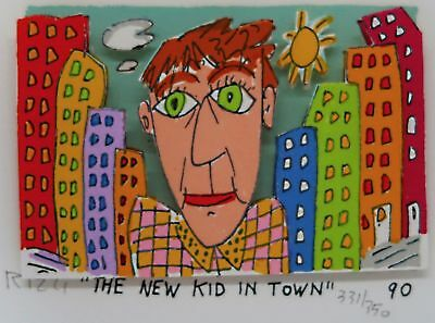 James Rizzi » The New Kid In Town «  Seltenes 3D  aus 1990