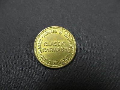 Classic Carwash Token - Classic Car Wash of Rochester, IN Coin -2017 S. Broadway