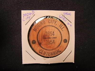 1954 Mound City, Illinois Wooden Nickel token-Mound City, IL 100th Wood Coin LIN
