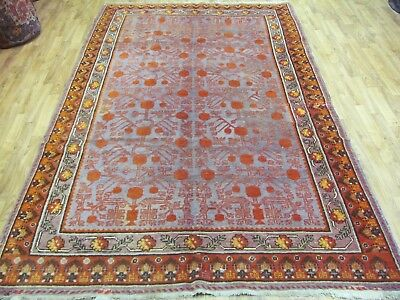 A DELIGHTFUL OLD HANDMADE TURKISH ORIENTAL RICH PILE RUG (272 x 164 cm)
