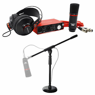 Focusrite SCARLETT STUDIO 2i2 2nd 192kHz USB 2.0 Audio Interface Bundle w/Stand