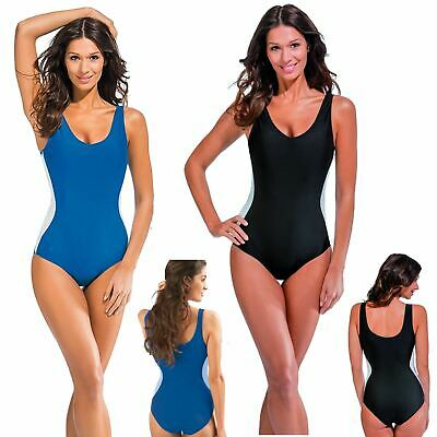 Slimming Swimsuit With Secret Support Black Or Blue Swimming Costume