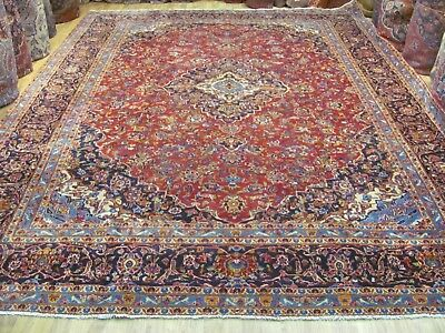 A FANTASTIC OLD HANDMADE KASHAN PERSIAN CARPET (400 x 300 cm)